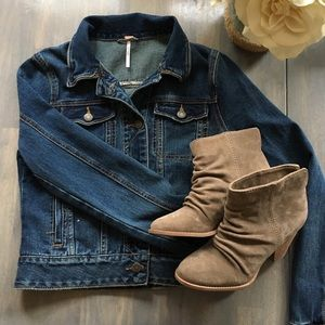 Free People Cropped Jean Jacket XS Classic Style